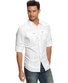 INC International Concepts Shirt, Palms Shirt - Mens INC Shirts - Macy's