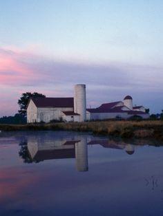 Century Farm at Dusk, Hamilton, Ohio Photographic Print