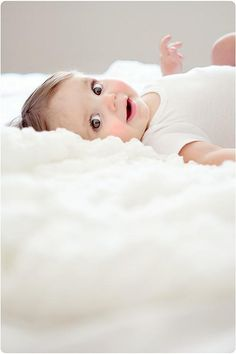 #Cute #Baby #Smile #Eyes #White