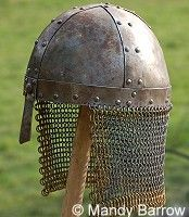 Helmets worn at the Battle of Hastings 1066