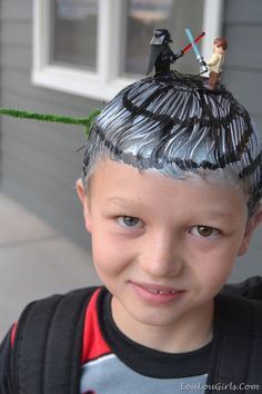 If your son wants to join in on the fun, his Legos can easily be used as hair accessories.