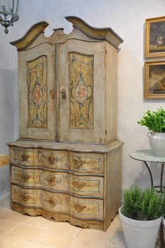 French Country Living Antiques - Italian cabinet