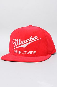 The Happy Hour Snapback Cap in Red by Mishka