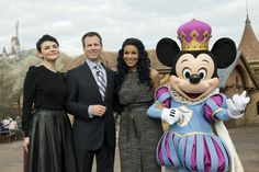 Ginnifer Goodwin and Jordin Sparks joined Walt Disney Parks and Resorts Chairman Tom Staggs and Mickey Mouse for the grand opening of New Fantasyland at Magic Kingdom Park