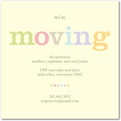 We're Moving:Bark