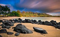 Kauai Morning, Anahola Beach, Kauai...honeymooned here...my most favorite place!!!