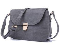 2016 Womens Envelope Shoulder Cross-body Messenger Mini Bag with Buckle (Dark Grey): Handbags: Amazon.com