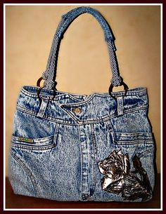 Recycled, upcycled, jeans, denim, pockets, beautiful, pretty, details, crafting idea