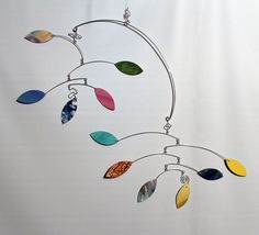 Bits and Pieces Kinetic Art Mobile Calder Style by Carolyn Weir - My Newest Sculpture