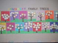 Mrs. T's First Grade Class: Kandinsky Style Family Trees