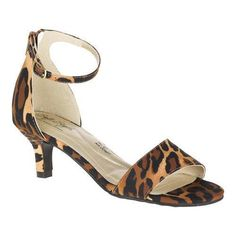 Soft Style by Hush Puppies Brown Leopard Grosgrain Madalyn Kitten Heel