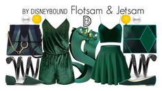 """Flotsam & Jetsam"" by leslieakay ❤ liked on Polyvore featuring Heio, Chloé, WithChic, Jimmy Choo, CHARLES & KEITH, Kim Rogers, disney, disneybound and disneycharacter"