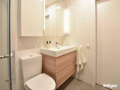 Flat in Avinguda Madrid – i loft you – Interior Design Loft, Zara Home, Bathroom Designs, Interiores Design, Bathroom Inspiration, Cosmic, Madrid, Toilet, Barcelona