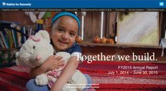 Together we build – Habitat for humanity's annual report, created with Shorthand.