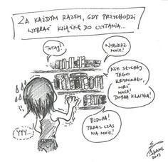 Za każdym razem... też tak macie? ;-) Forever Book, Book Memes, Writing Tips, Book Worms, Fangirl, Fandom, Humor, Reading, Funny