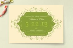 Flourishing Save the Date Cards by Letter19 | Minted