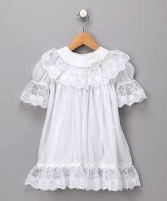 White lace flower girl dress. C.I. Castro  Jayne Copeland