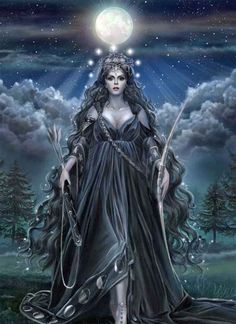 """An Morrígan is a goddess of battle and sovereignty, sometimes appearing in the form of raven or wolf. She is a triple goddess, a fierce aspect of the Great Mother, often serving as a guide to those moving through difficult transition. One who is protected by 'the Morrigan' is certain of victory."" ~ www.chaliceofwisdom.com- Pinned by The Mystic's Emporium on Etsy:"