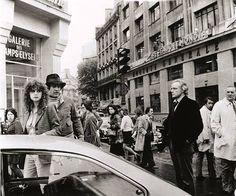 Maria Scneider, Bernando Bertolucci and Marlon Brando filming Last Tango in Paris