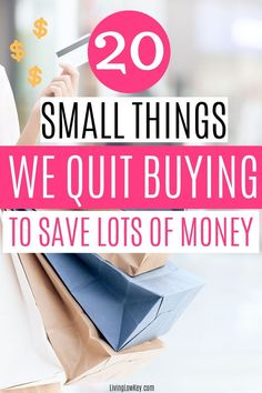 The best money saving tips! If you are wanting to save money a lot of money here are 20 simple things you need to quit buying right now. #savingmoney #savemoney #savingmoneytips #frugalliving #