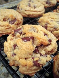 Bisquick chocolate chip cookies . Yummy just made these and had them with a big glass of milk!  I used half chocolate chips and half peanut butter chips.