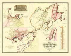 1872 map of Gloucester, MA