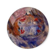 Renoir's Still Life With a Sugar Bowl Classic Round Sticker