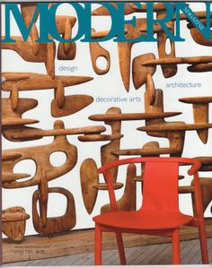 """Modern Magazine #2, Fall 2009, VF. Issue features the decor of designer Max Clendinning, Jewelry designed by Art Smith, Florence Knoll's interiors in the CBS Building, Stained Glass by Jacques Le Chevallier, New Museum for """"Tintin"""" illustrator Herge, Thomas Stearns, Swedish ceramics by Wilhelm Kage, and more! - 136 pages packed with gorgeous full color photographs, plus news articles, auction results and numerous pieces on modern design. $4"""
