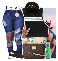 """""""l o v e ."""" by xluxaryx ❤ liked on Polyvore featuring Victoria's Secret, Neutrogena, MICHAEL Michael Kors, Ash and Armitage Avenue"""