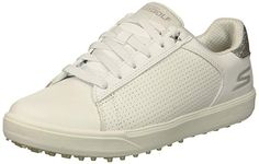 These lightweight womens drive 4 spikeless waterproof golf shoes by Skechers come with an ultra flight foam and metallic leather uppers! Waterproof Golf Shoes, Womens Golf Shoes, Best Player, Rain Wear, Golf Outfit, Ladies Golf, Metallic Leather, Skechers, Adidas Sneakers