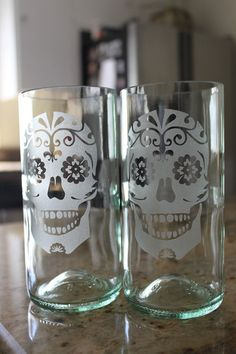 Skull Glass Set