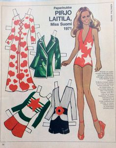 Miss Finland 1971 Pirjo Laitila Fabric Doll Pattern, Fabric Dolls, Dolls Film, Dress Up Dolls, Vintage Paper Dolls, Great Memories, Old Toys, Sweden, Nostalgia