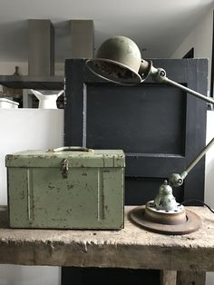Metal box and Jielde lamp