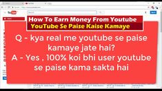 100% Koye Bhi User Youtube Se Paise Earn Kar Sakta Hai How To Earn Money From Youtube  how to earn money from youtube in hindi  Earn money with YouTube - Youtube earning kaise kare YouTube Easiest Way To Make Money youtube monetization  How to earn money from your videos   - 1st Giveaway Finish - 2nd Giveaway Finish - 3rd Giveaway Coming Soon - Surprise Giveaway Always On - Pay Rs.5 Paytm Cash  Ftb MadeSimple9662Afriendtechboard B662AFriend Tech Board C662A Exclusive Tutorial Videos And…