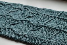 The slowly morphing cabled lines of this cowl/infinity scarf were inspired by the work of Dutch artist M. C. Escher, and his artistic experiments with tessellating patterns and negative space. This piece is worked in the round as a seamless tube, then grafted with a half-twist to form a Möbius-type strip.