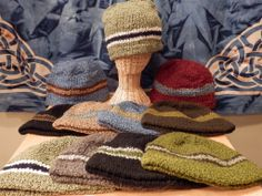 An alpaca, fleece lined hat that will definitely keep your man warm!  This striped boucle hat is handmade in Bolivia and comes in a variety of colors.  One size fits all.