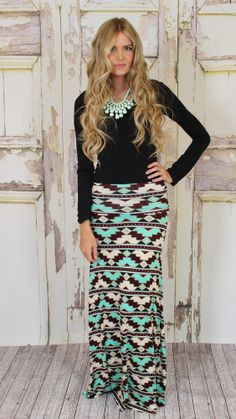 Modern Vintage Boutique - See you Again Maxi Skirt, $39.00 (http://www.modernvintageboutique.com/see-you-again-maxi-skirt.html)