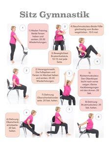 Trainings-Chart Sitz Gymnastik