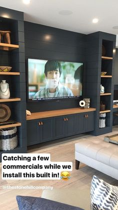 Living Room Tv Wall Entertainment Center Television 47 Super Ideas Some house. - Trend Home Entertainment 2020 Living Room Built Ins, Living Room Tv, Tv Wall Ideas Living Room, Living Room Remodel, Salas Home Theater, Ruang Tv, Wall Entertainment Center, Muebles Living, Basement Renovations