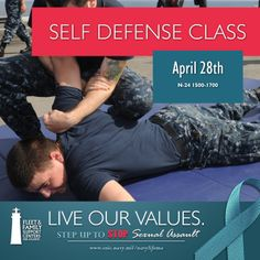 Sexual Assault Awareness Month Self Defense Class, April Naval Station Norfolk, Self Defense Classes, Support Center, Family Support