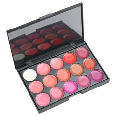 Fast Shipping High Quality 15 Colors Lip Gloss Palette Makeup Lipstick Palette Lipgloss Lips Lip Pigment Lip Make up Pallete