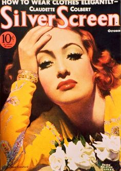 Silver Screen Magazine Cover, Joan Crawford, 1929, John Rolston Clarke