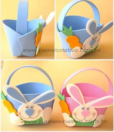 19 Step by step EVA Easter Favors (Shapes) - Diy and Crafts Mix Easter Egg Crafts, Easter Bunny, Diy For Kids, Gifts For Kids, Handmade Crafts, Diy And Crafts, Toilet Paper Crafts, Diy Spring Wreath, Bunny Party