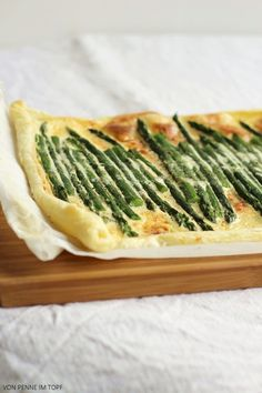 Penne im Topf: Blätterteig-Tarte mit grünem Spargel