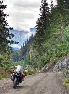Side roads near Haines, Alaska. The area was featured in the March 2014 issue of Rider magazine.