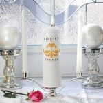 Personalized Chantilly Lace Unity Candle Set