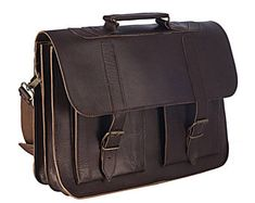 Mens MESSENGER BAG - 15 inch Laptop Bag  from 100% Full Grain Waxed Leather