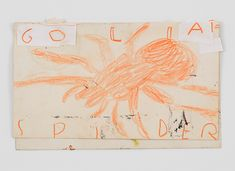 Painting a noun…, contemporary drawing, painting, David Zwirner Rose Wylie, Orange Spider, Ballpoint Pen, Colored Pencils, Vintage World Maps, Collage, Notes, Contemporary, Drawings