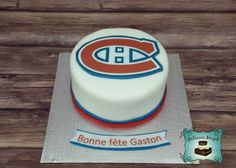 hockey canadien montreal cake gateau www.facebook.com/gateauxmagik Montreal Canadiens, Hockey Cakes, Let Them Eat Cake, Baked Goods, Cake Decorating, Baking, Desserts, Recipes, Birthday Cakes