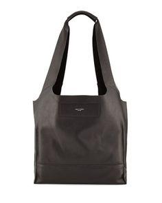 Walker Leather Shopper Hobo Bag, Black by Rag